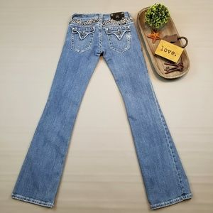 Miss Me Boot cut studded embellished jeans